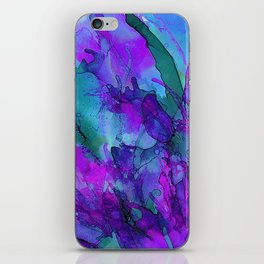 Alcohol Ink Flowers 2 iPhone Skin
