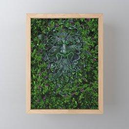 THE GREEN MAN Framed Mini Art Print