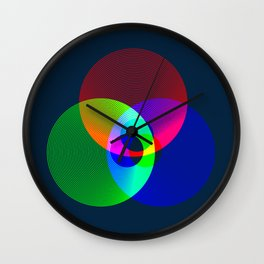 Red Green Blue Light Color Model Lines Wall Clock