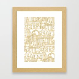 Ancient Greece gold white Framed Art Print