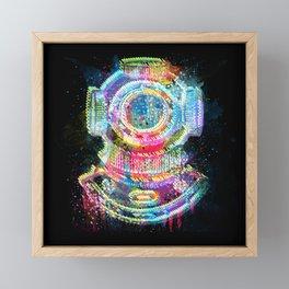 The Diver Framed Mini Art Print