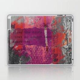Close The Door Motivational Painting Laptop & iPad Skin