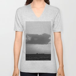 Evening clouds over the sea Unisex V-Neck