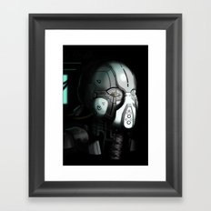 Glitchmask Original Framed Art Print