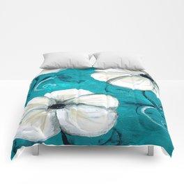 Flowers in Oil Comforters