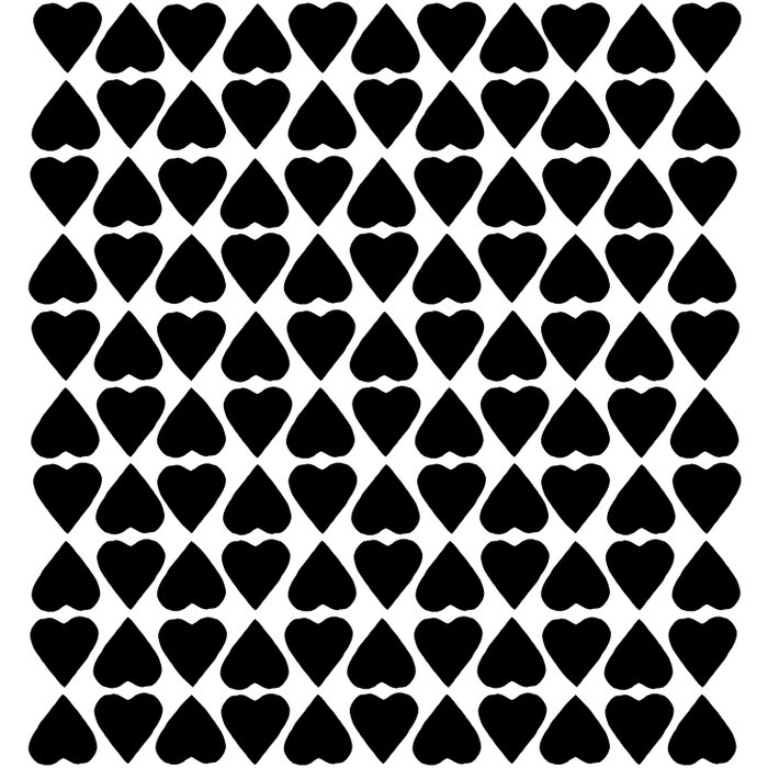 Diamond Hearts Repeat Black Duvet Cover