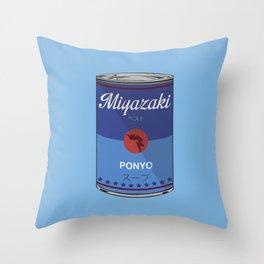 Ponyo - Miyazaki - Special Soup Series  Throw Pillow