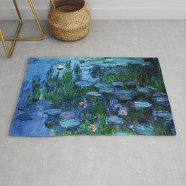 Claude Monet Water Lilies / Nymphéas deep Rug