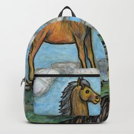 When Nature Notices You're a Little Horse Backpack