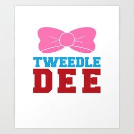 Tweedle Dee Matching Funny Graphic T-shirt Art Print