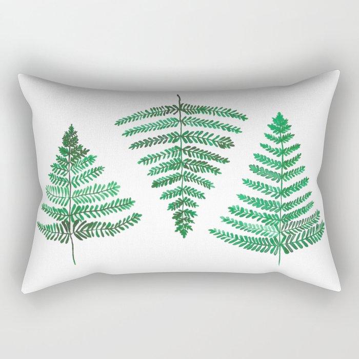 Fiordland Forest Ferns Rectangular Pillow