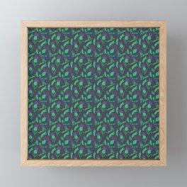 Scottish Thistle Pattern Framed Mini Art Print