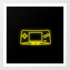 Neon Game Boy Advance Micro Art Print