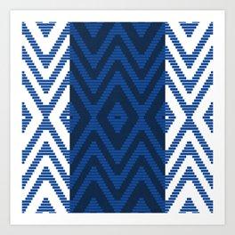 Rattan in Blue Art Print
