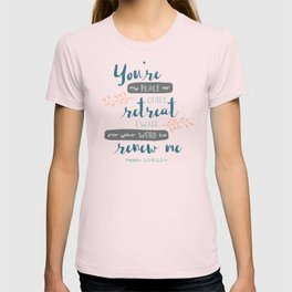 """Your Word Renews Me"" Hand-Lettered Bible Verse T-shirt"