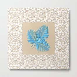 Florida (Tampa Bay blue palm) Metal Print