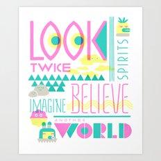Look Twice Art Print