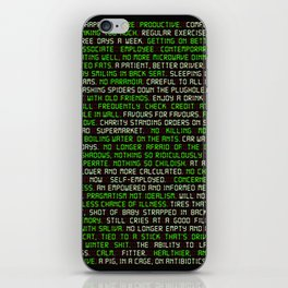Fitter. Happier. More Productive. iPhone Skin