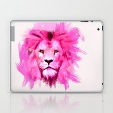 A pink lion looked at me Laptop & iPad Skin
