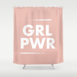 Girl Power / Pink Shower Curtain
