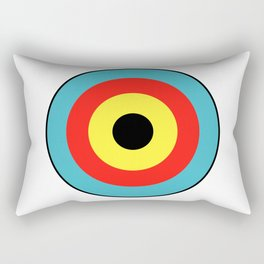 Isolated Archery Target Rectangular Pillow