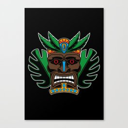 TIKI MASK Canvas Print