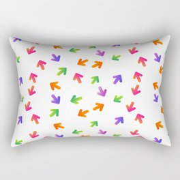 Multi-colored arrows on a white background. Rectangular Pillow