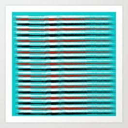 Color abstract line Art Print