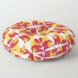Giant panda - China national symbol, flag colors Floor Pillow