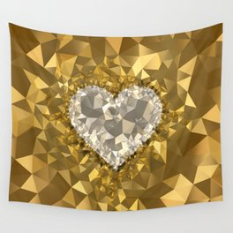 POLYNOID Heart / Gold Edition Wall Tapestry