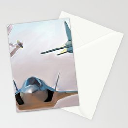 Lightning three ways Stationery Cards