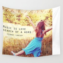 Music is Love Wall Tapestry