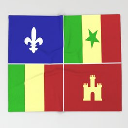 Louisiana Creole Heritage Throw Blanket
