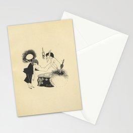 1907 AUBREY BEARDSLEY Black and White Drawing Salome Oscar Wilde - Cul de Lampe Stationery Cards