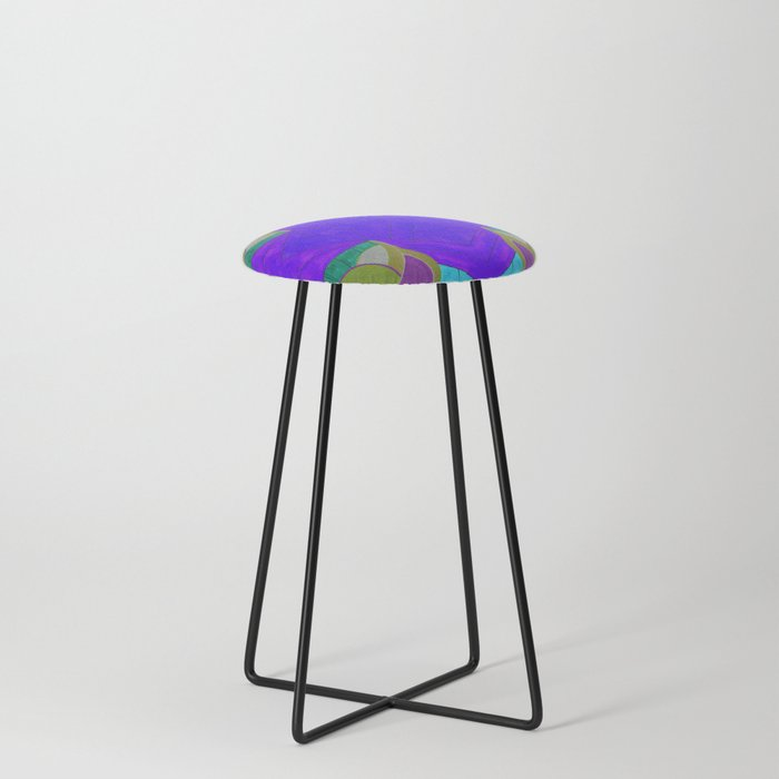 七 (Qī) Counter Stool