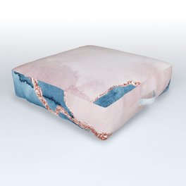 storm whipped sea Outdoor Floor Cushion