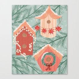 Holiday Bird Neighborhood Canvas Print