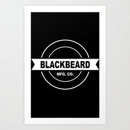 Original BlackBeard Logo White Art Print