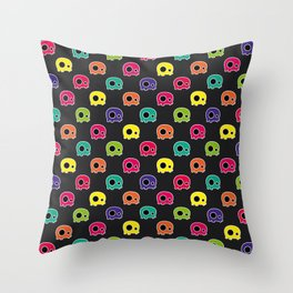SKULLZ - Colorful Edition Throw Pillow