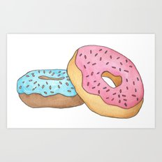 D is for Donut Art Print