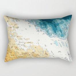 Satellite generative illustration Rectangular Pillow