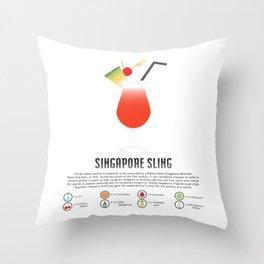 Singapore Sling Throw Pillow