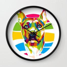 Pitbull Face Wall Clock