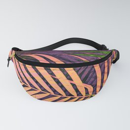 TROPICAL COLORFUL POPPY LEAVES Fanny Pack