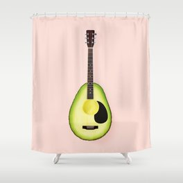 AVOCADO GUITAR Shower Curtain