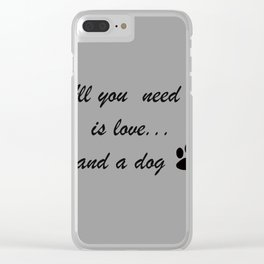 Love Dogs Clear iPhone Case