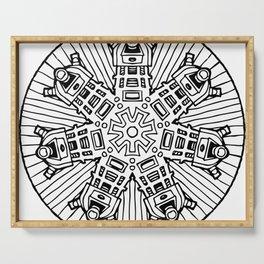 Mandalek - Dalek Mandala Serving Tray