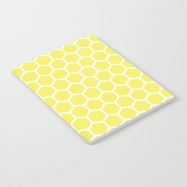 Summery Happy Yellow Honeycomb Pattern - MIX & MATCH Notebook