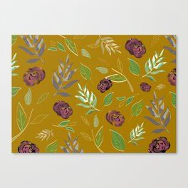 Simple and stylized flowers 12 Canvas Print