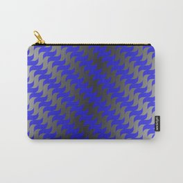 3d Blue Wavy Lines Carry-All Pouch
